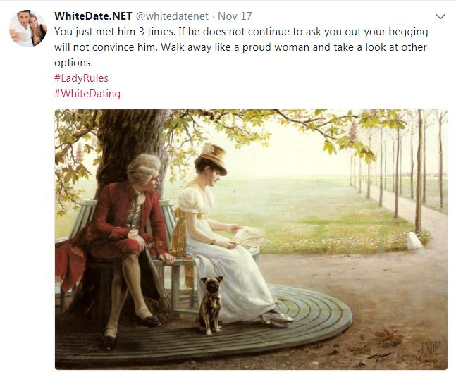 Old fashioned white woman letting her fiance wait, altright values