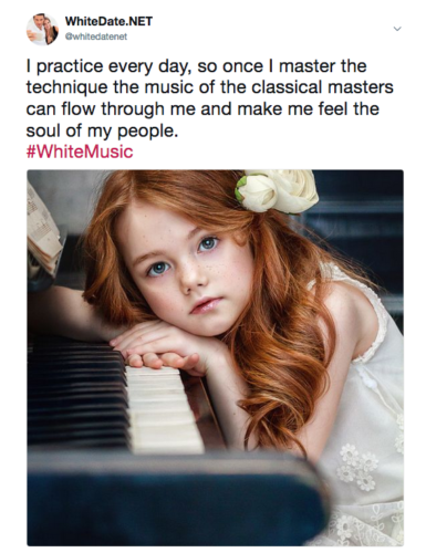 Classical music is white, European heritage, white girls playing piano