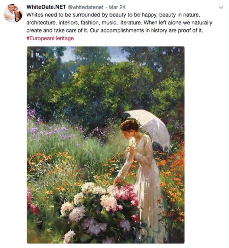 White Heritage, European paintings, Femininity in arts