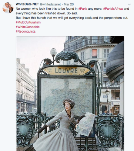 White Style lost in anti-white Paris. White dating misses femininity and elegance.