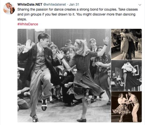 European dances, white dancing dates