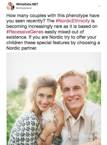 Beautiful white couple with nordic phenotype