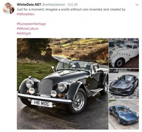 Oldtimer cars invented by white, European men