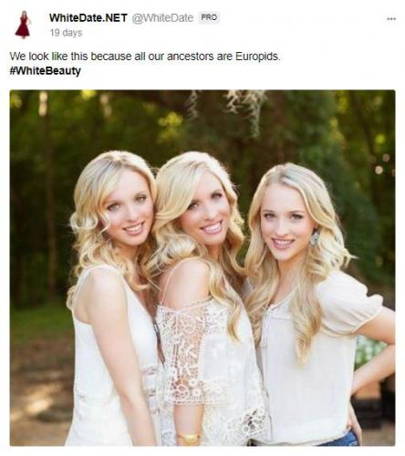Three blonde sisters proud of their white ancestry