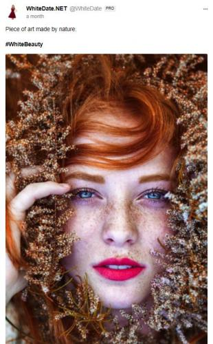 Stunning red haired woman's face