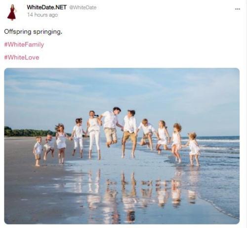 white children jumping, white offspring springing