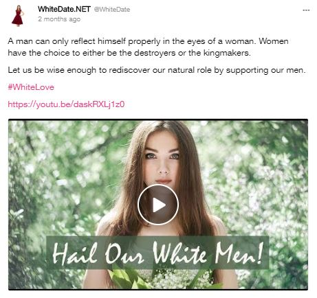 hail our white men, how to become a traditional white woman