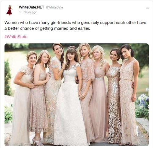 white sisterhood, white women support each other to find good men